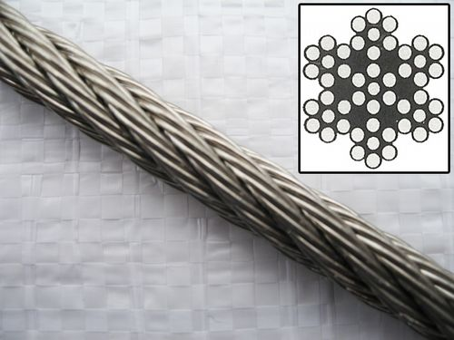 7 x 7, Stainless Steel, Wire Rope
